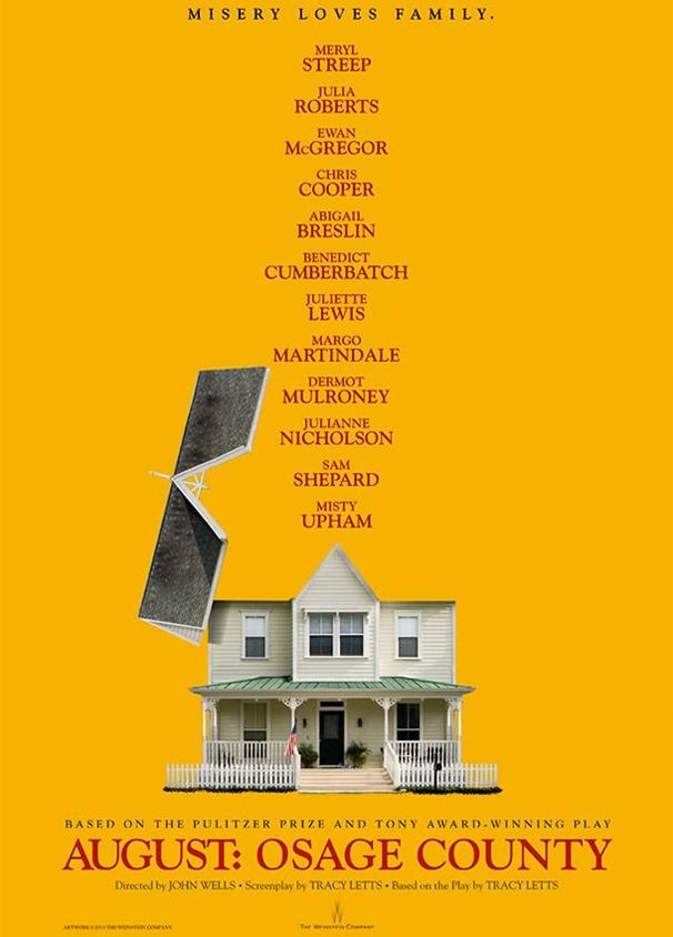 Meryl Streep og Julia Roberts fører an, når familien samles i dette karakterdrevne drama fra Oklahoma.